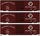 40' PS-1 Boxcar Northern Pacific (3 pack) -- HO Scale Model Train Freight Car Set -- #8073