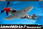 La-7 Russian Ace Limited Edition -- Plastic Model Airplane Kit -- 1/48 Scale -- #12304