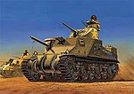 US M3 Lee Bolted Hull Tank (Re-Issue) -- Plastic Model Military Vehicle Kit -- 1/35 -- #13206