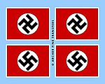 German National Flag -- Plastic Model Vehicle Decal -- 1/35 Scale -- #35008