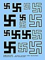 Swastikas Early 10mm, 15mm, 20mm (Black) -- Plastic Model Vehicle Decal -- 1/35 Scale -- #35197b