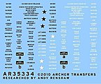 M113 Based Vehicle Exterior Stencils -- Plastic Model Vehicle Decal -- 1/35 Scale -- #35334