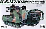US M730A1 Chaparral -- Plastic Model Military Vehicle Kit -- 1/35 Scale -- #35002