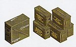 .30/.50 Cal. 40mm US Ammo Boxes & Belts -- Plastic Model Military Diorama -- 1/35 -- #35035
