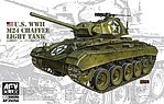 US M24 Chaffe Light Tank -- Plastic Model Military Vehicle Kit -- 1/35 Scale -- #35054