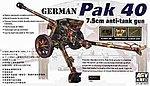 German Pak 40 7.5cm Anti-Tank Gun -- Plastic Model Artillery Kit -- 1/35 Scale -- #35071