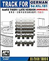 German SdKfz 181 Ausf E Tiger I Late Workable Track -- Plastic Model Tank Tracks -- 1/35 -- #35093