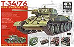 T34/76 Mod 1942 No.112 Full Interior Tank -- Plastic Model Tank Kit -- 1/35 Scale -- #35143