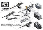 US M2HB .50Cal Machine Gun -- Plastic Model Artillery Kti -- 1/35 -- #35246