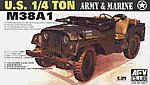 US M38A1C 1/4-Ton Jeep -- Plastic Model Military Jeep Kit -- 1/35 Scale -- #35s17