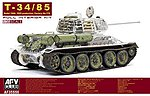 T34/85 Mod 1944/45 No.174 Full Interior Tank -- Plastic Model Tank Kit -- 1/35 Scale -- #35s56