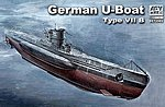 German U-Boat Type VII B Submarine -- Plastic Model Submarine Kit -- 1/350 Scale -- #73502
