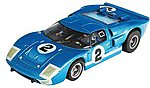 Ford GT40 #2 LeMans -- Mega-G Collector Series -- HO Scale Slotcar Car -- #21006