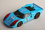 GT40 #1 Miles (MG+) -- HO Scale Slotcar Car -- #21031