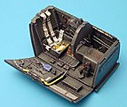Bf109G6 Cockpit Set For a Hasegawa Model -- 1/32 Scale -- Plastic Model Aircraft Accessory -- #2001