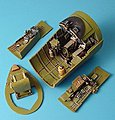 F4U1 Cockpit Set For a Trumpeter Model -- 1/32 Scale -- Plastic Model Aircraft Accessory -- #2021