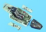 Su27 Flanker B Cockpit Set -- 1/32 Scale -- Plastic Model Aircraft Accessory -- #2026