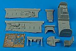 P51D Cockpit Set For a Trumpeter Model -- Plastic Model Aircraft Accessory -- 1/32 Scale -- #2091