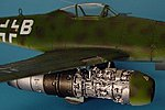 Me262A Engine Set For a Tamiya Model -- Plastic Model Aircraft Accessory -- 1/48 Scale -- #4145