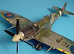 Spitfire Mk IX Engine Set For a Hasegawa Model -- Plastic Model Aircraft Accessory -- 1/48 -- #4210