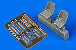 Fw190 Seats for EDU -- Plastic Model Aircraft Accessory -- 1/72 Scale -- #7338