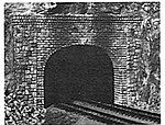 Double-Track Tunnel Portal - Random Stone -- N Scale Model Railroad Scenery -- #213