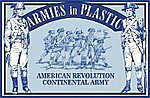 American Revolution Continental Army Infantry (20) -- Plastic Model Military Figure -- 1/32 -- #5464