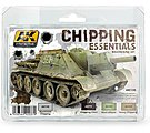 Chipping Essentials Weathering (4 Colors) 17ml Bottles -- Hobby and Model Acrylic Paint -- #138