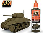Olive Drab Acrylic Primer 60ml Bottle -- Hobby and Model Acrylic Paint -- #182