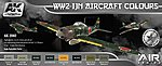 AIR Series WWII IJN Aircraft Colors -- Hobby and Model Paint Set -- #2060