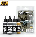 Luftwaffe Fighter Camouflage Acrylic Paint Set (4 Colors) -- Hobby and Model Paint -- #2090