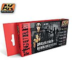 Panzer Crew Black Uniforms Acrylic -- Hobby and Model Paint Set -- #3001