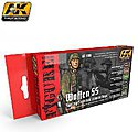 Waffen SS Spring/Summer Camouflage Acrylic Paint Set (6 Colors) -- Hobby and Model Paint -- #3060