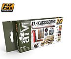 Tank Accessories Acrylic Paint -- Hobby and Model Paint Set -- #4000