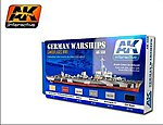 WWII German Warships Camouflages Acrylic Paint -- Hobby and Model Paint Set -- #559