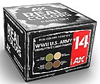 Real Colors- WWII US Army Disruptive Camo Acrylic Lacquer Paint Set (4) 10ml Bottles