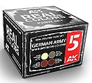 Real Colors- German Army WWII Interior Acrylic Lacquer Paint Set (4) 10ml Bottles