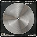1/48 Spitfire Mk III Rotor 3.27m Photo-Etch Propeller (2) (D)