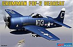 F8F2 Bearcat USAF Navy Carrier Based Fighter -- Plastic Model Airplane Kit -- 1/72 -- #7201