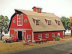 Country Barn Kit -- HO Scale Model Railroad Building -- #119
