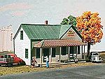 Corydon General Store/Post Office Kit -- HO Scale Model Railroad Building -- #123