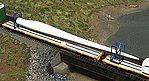 Wind Turbine Blade w/Blocking Flatcar Load 3-Pack - Kit -- Cast Resin & Laser-Cut Parts (unpainted)