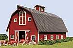 Country Barn Kit -- N Scale Model Railroad Building -- #619