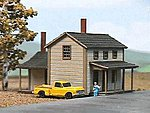 Two-Story Section House Kit -- N Scale Model Railroad Building -- #628