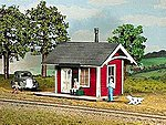 Branchline Depot Kit -- HO Scale Model Railroad Building -- #790