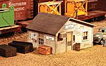 Grand Avenue Yard Office Kit -- HO Scale Model Railroad Building -- #795