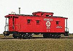 Class 50c Caboose - Kit Seaboard Air Line - Class 5CC -- HO Scale Model Train Freight Car -- #854