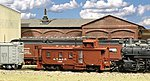 Santa Fe-Style Side-Door Caboose (Waycar) Kit -- HO Scale Model Train Freight Car -- #875