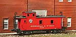 Wood Caboose - Kit Minneapolis & St Louis #1100 Series -- HO Scale Model Train Freight Car -- #882