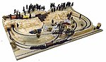 Terrain for Trains Layout - High Sierra -- N Scale Model Railroad Scenery -- #1000